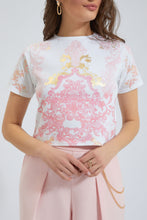 Load image into Gallery viewer, White/Pink Printed T-Shirt