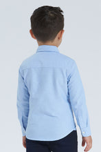 Load image into Gallery viewer, Blue Oxford Shirt With Applique