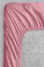 Load image into Gallery viewer, Pink 100% Cotton Fitted Sheet (Double Size)