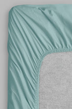 Load image into Gallery viewer, Teal 100% Cotton Fitted Sheet (Double Size)