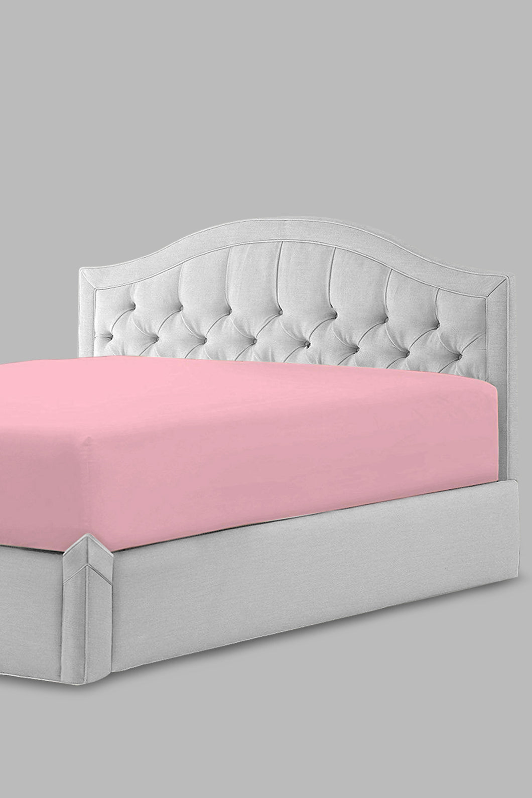 Pink Fitted Sheet (Super King Size)