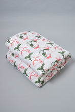 Load image into Gallery viewer, White Floral Print Comforter (Single Size)