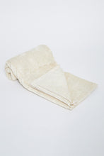 Load image into Gallery viewer, Beige Soft Cotton Bath Towel