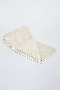 Beige Soft Cotton Bath Towel