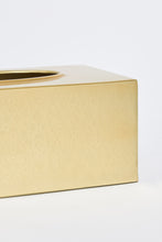 Load image into Gallery viewer, Gold Rectangle Tissue Box Holder