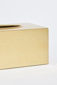 Gold Rectangle Tissue Box Holder