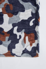 Load image into Gallery viewer, Grey Camouflage Kids Blanket