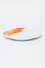 Load image into Gallery viewer, White/Orange Abstract Design Printed Dinner Set (20 Piece)