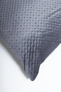 Grey Pinsonic Velvet Plain Floor Cushion