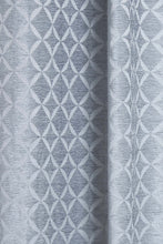 Load image into Gallery viewer, Grey Geometric Jacquard Eyelet Curtain (Pair)