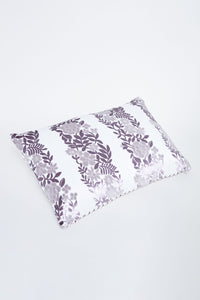 Purple Floral Oblong Cushion