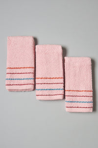 Pink Hand Towel Set (3 Piece)