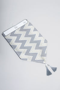 Silver Zig Zag Design Table Runner
