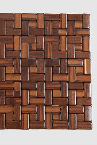Brown Pabble Rectangle Bamboo Placemat