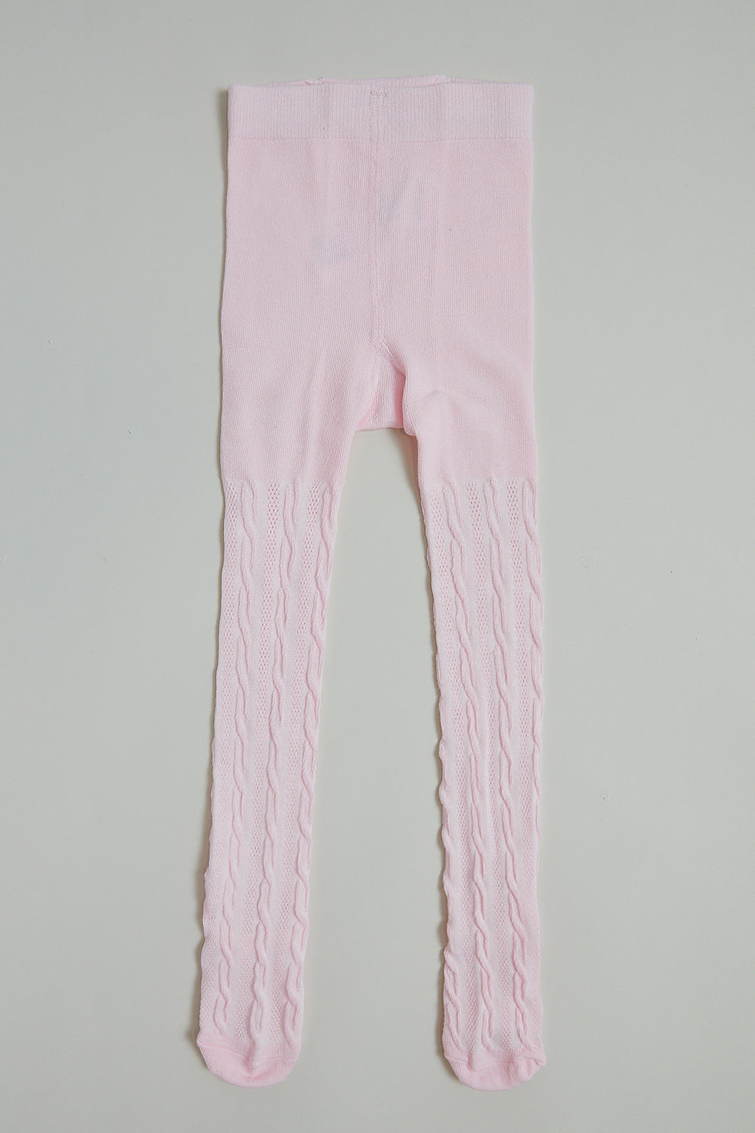 Pink Cable Stockings