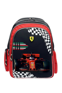 Black Ferrari Large Backpack Set (2-Piece Set)