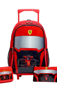 Red Ferrari Visor Trolley Set (5-Piece Set)