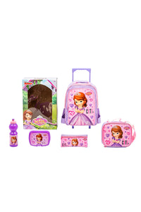 Pink Sofia Trolley Set (5-Piece Set)