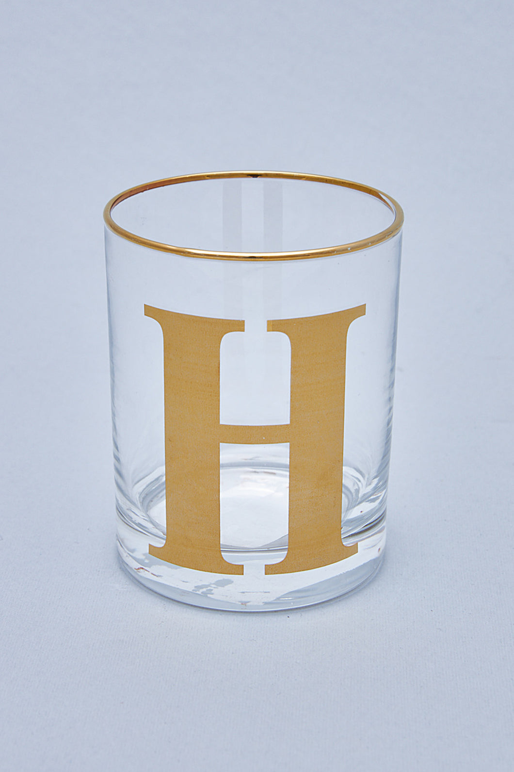 Alphabet Glass - H