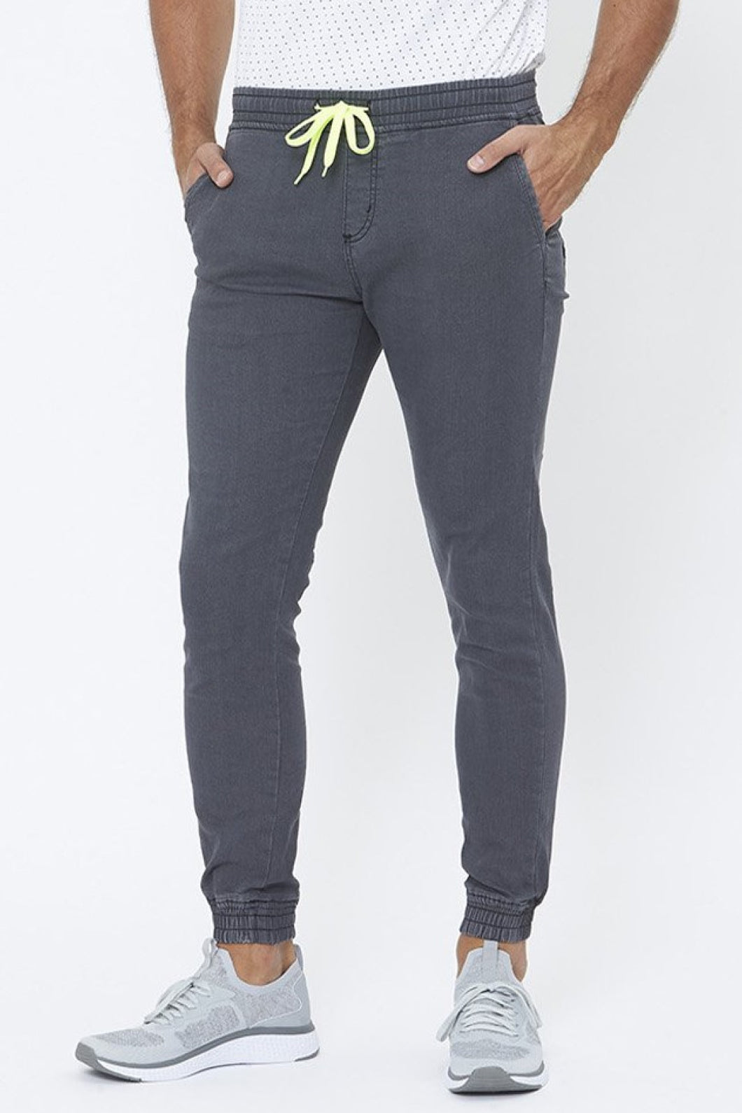 Grey Jogger-Style Jean