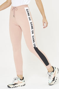 Pink Jogger With Side Applique