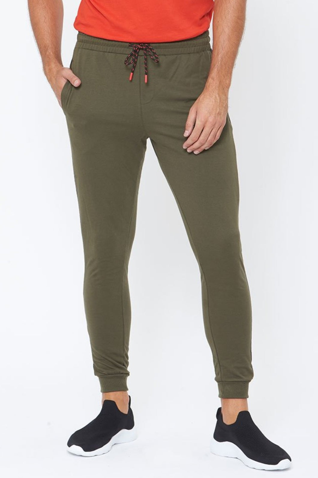 Olive Contrast Panel Joggers