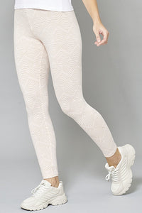 Pale Pink Allover Print Legging