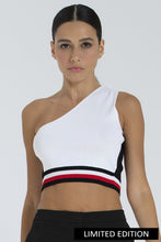 Load image into Gallery viewer, White One Shoulder Crop Top