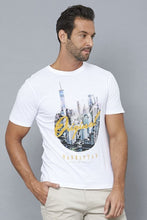Load image into Gallery viewer, White Original Manhattan Graphic Print T-Shirt
