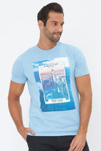 Load image into Gallery viewer, Sky Blue Long Island Graphic Print T-Shirt