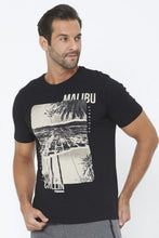 Load image into Gallery viewer, Black Malibu Chillin Graphic Print T-Shirt