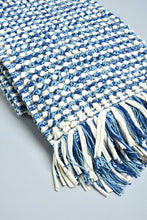 Load image into Gallery viewer, Blue Textured Handwoven Rug