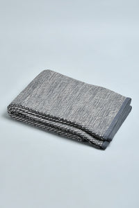 Grey Textured Handwoven Rug