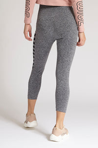 Grey Side Print Legging