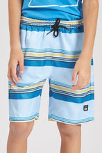 Load image into Gallery viewer, Blue Stripe Board Shorts