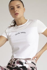 White Team Series Mesh T-Shirt