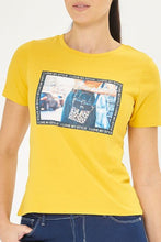 Load image into Gallery viewer, Yellow Photographic Print T-Shirt