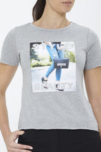 Load image into Gallery viewer, Grey Photographic Print T-Shirt