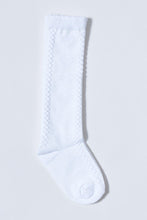 Load image into Gallery viewer, White Knee High Jacquard Socks (2-Packs)