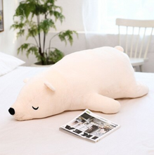 Load image into Gallery viewer, Lying Bear Squad Plush Pillow