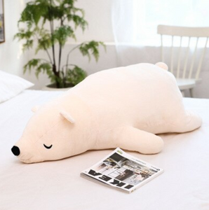 Lying Bear Squad Plush Pillow