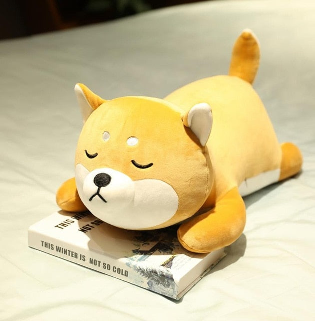 Lying Shiba Inu Plush Pillow
