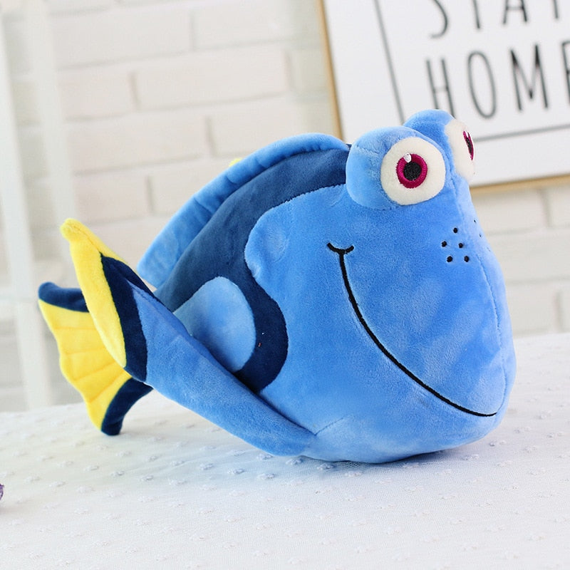 Nemo and Dory plushies from