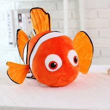 "Load image into Gallery viewer, Nemo and Dory plushies from ""Finding Nemo"" & ""Finding Dory"""