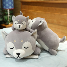 Load image into Gallery viewer, Lying Shiba Inu Plush Pillow
