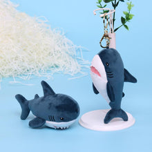 Load image into Gallery viewer, Cute Shark Plushie Keychain for sale at Global Plushie
