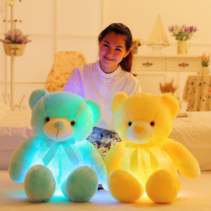 Glowing LED Teddy Bear Plushie for sale at Global Plushie