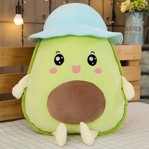 Stretchy Avocado Plushie with Hat