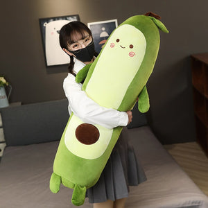 Giant Yummy Avocado Plush - Chubby Cushion & Long Body Pillow (2 Styles)