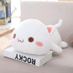Cuddly Lying Cat Plush Pillow